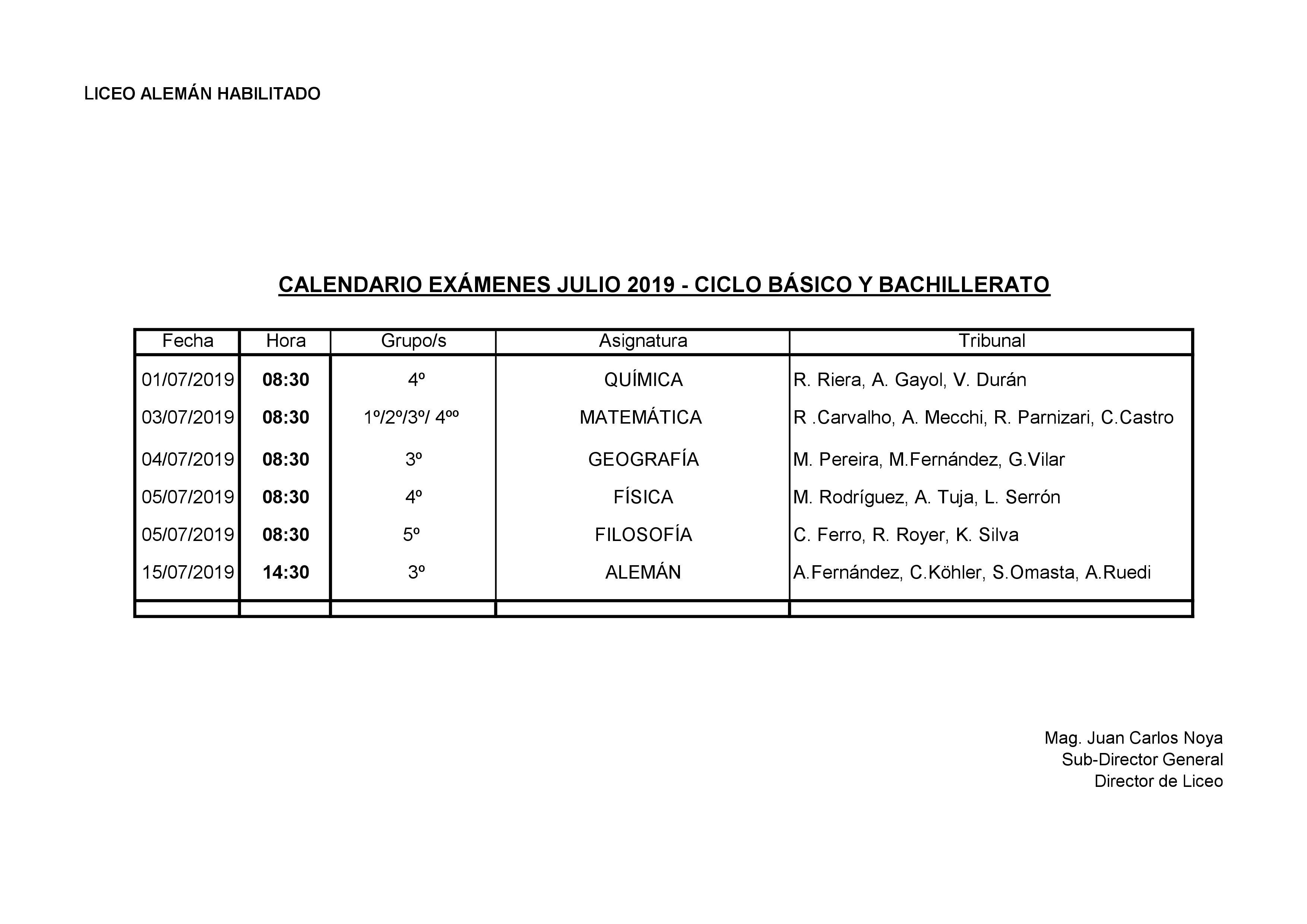 Calendario De Examenes.Dsm Calendario De Examenes